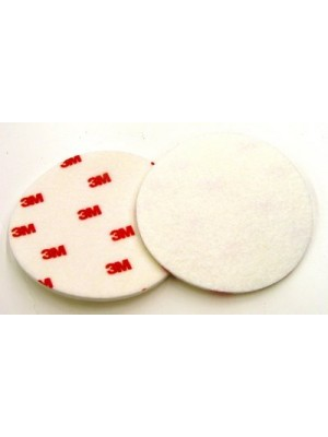 3M (09358) Buffing Pad 09358, 5 in Red/White [You are purchasing the Min order quantity which is 50 Pads]