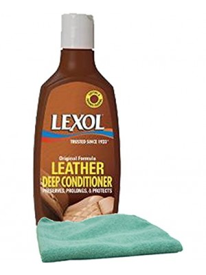 Lexol Leather Conditioner Lotion (8 oz.) & Microfiber Cloth Kit